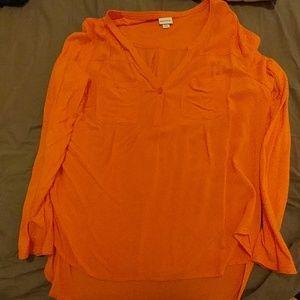 Merona Orange Blouse